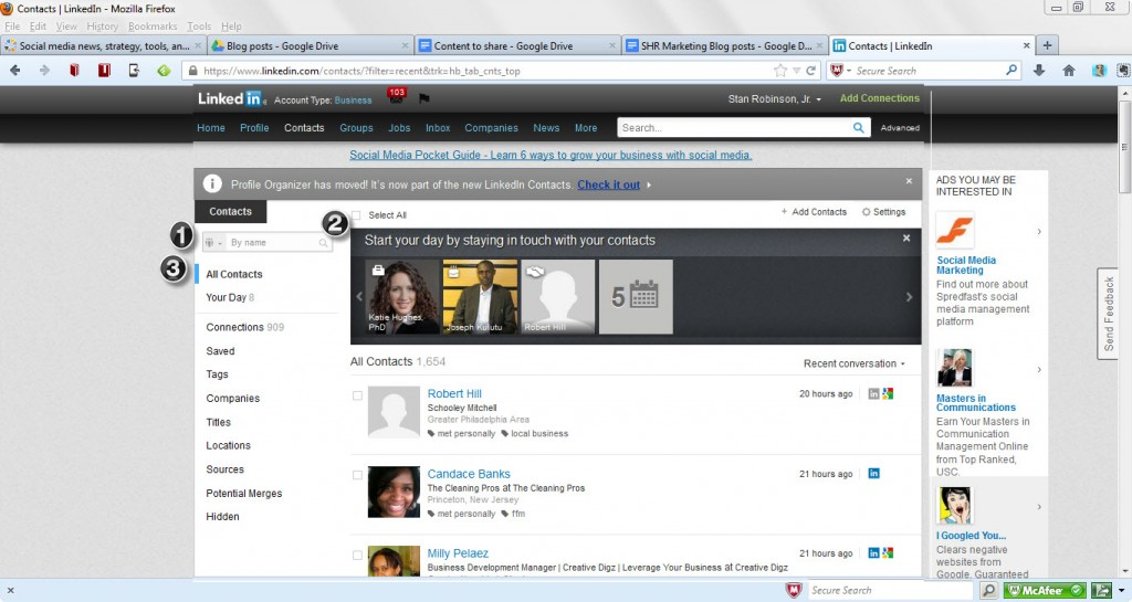 LinkedIn - new Contacts format1