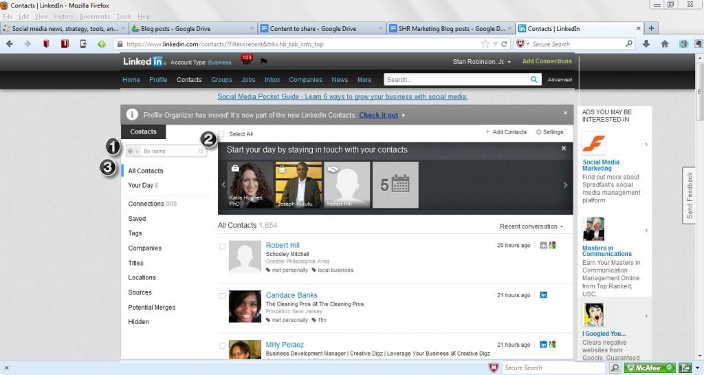 LinkedIn - new Contacts format1